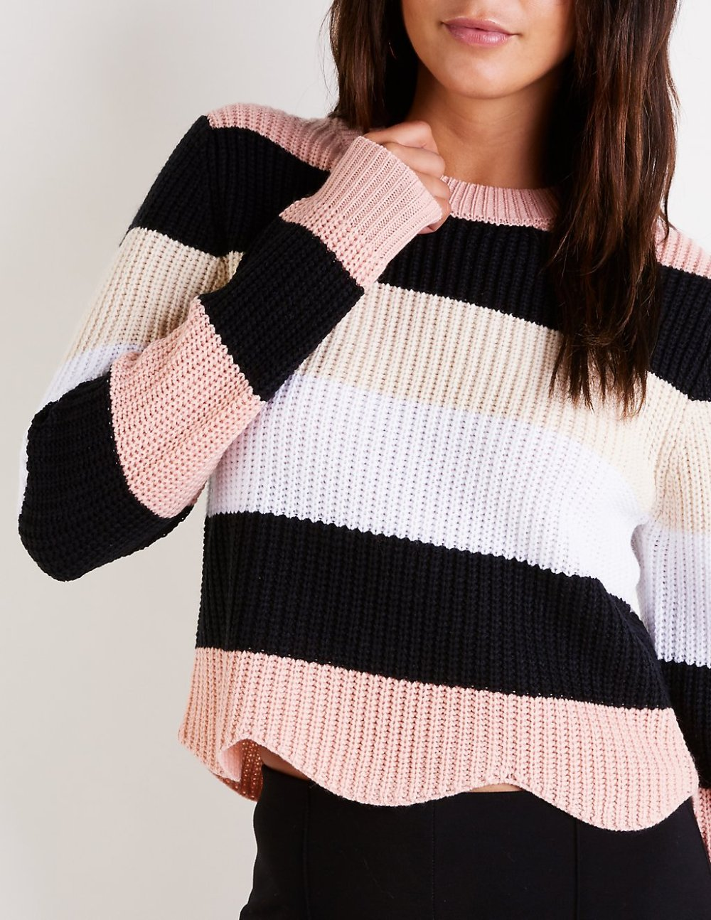 charlotte russe scalopped sweater