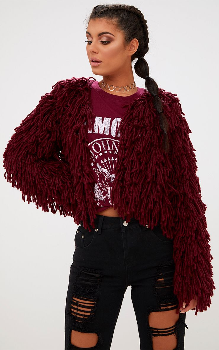 prettylittlething shaggy sweater